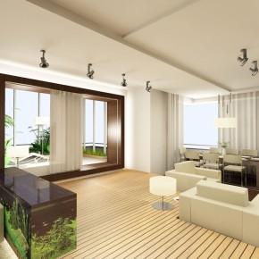Для отдыха проектируется диван, низкий стол, удобные кресла или диван.